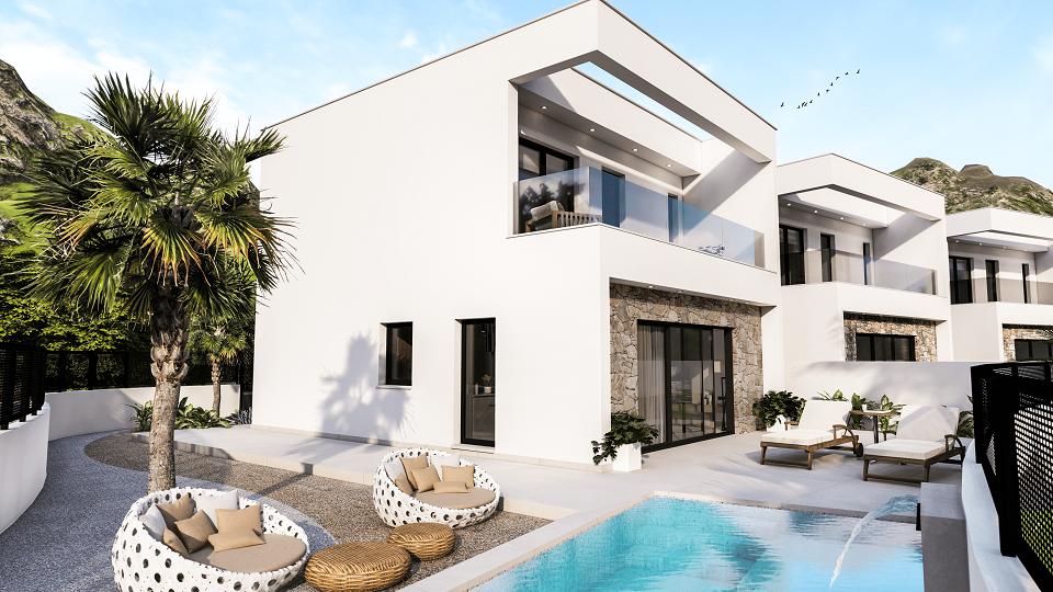 Nieuw gebouwde villa's met zwembad