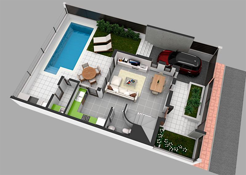 Neubau gerumigen Doppelhaus